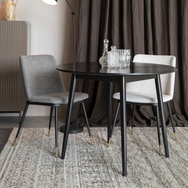 Lionel - 2 chaises en tissu et métal