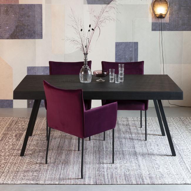 Liv - Tapis d'inspiration berbère à franges violet