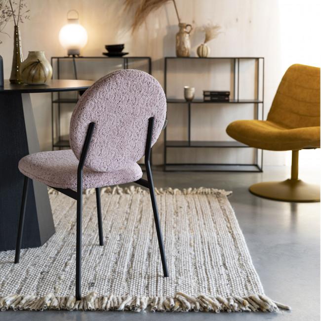 Mist - 2 chaises en métal et velours bouclette