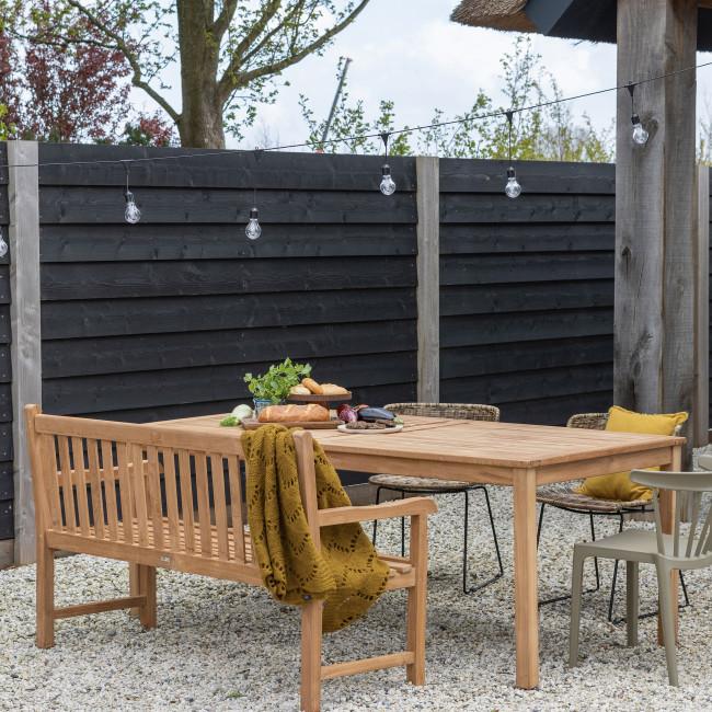 Jisse - Table à manger de jardin en teck 200x100cm