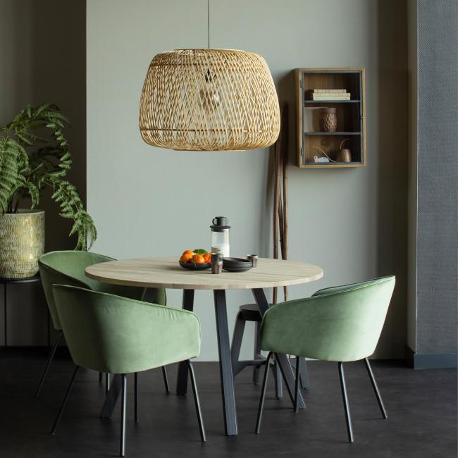 Sien - 2 fauteuils de table en velours