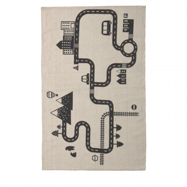 Nisi - Tapis 100% coton pour chambre d'enfant 75x120 cm