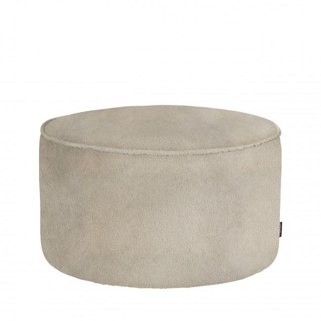 Sara - Pouf rond en tissu bouclette ø60cm