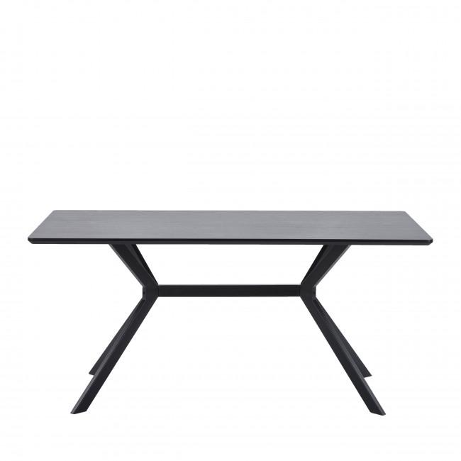 Bruno - Table à manger en bois et métal 200x90cm
