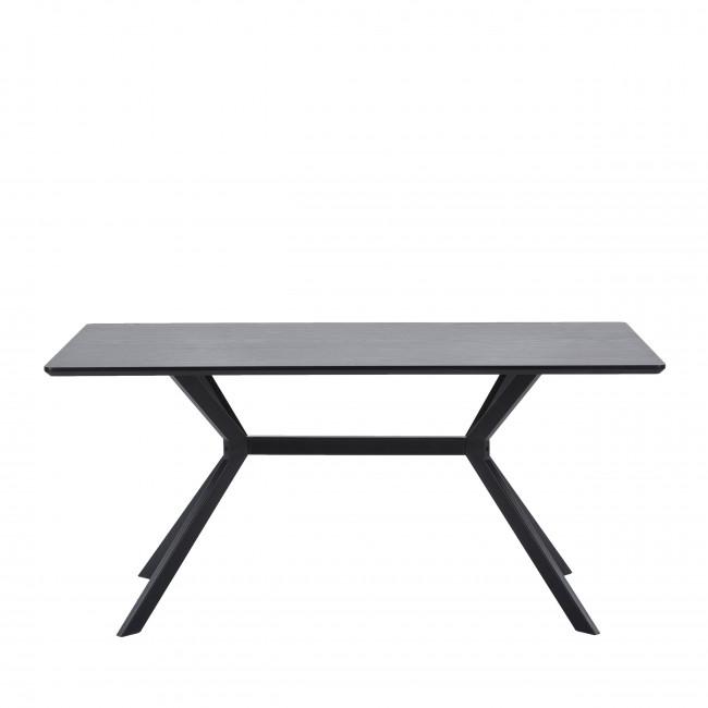 Bruno - Table à manger en bois et métal 160x90cm