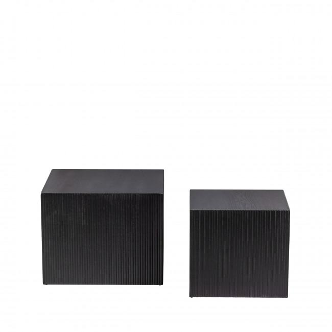 Sanne - 2 tables basses carrées en bois