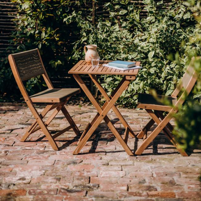 Honsang - Salon de jardin 1 table et 2 chaises