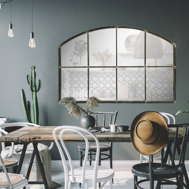 Arcy - Miroir de style indus en arc 120x80 cm