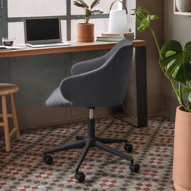 Einara - Chaise de bureau pivotante à roulettes