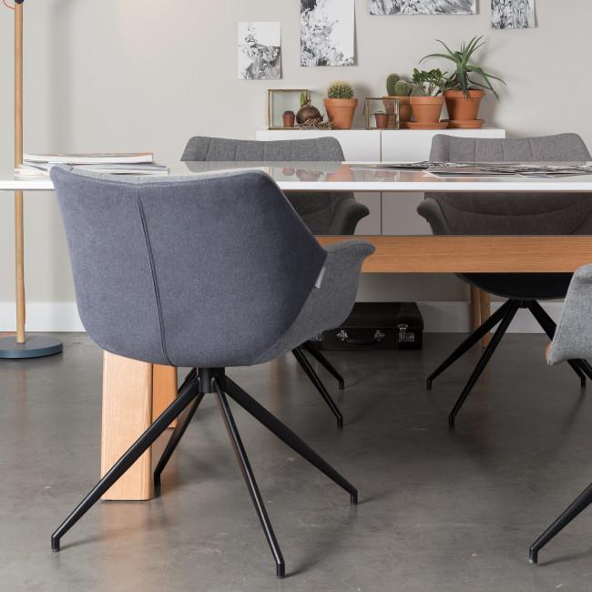 Lot de 2 fauteuils design Doulton gris