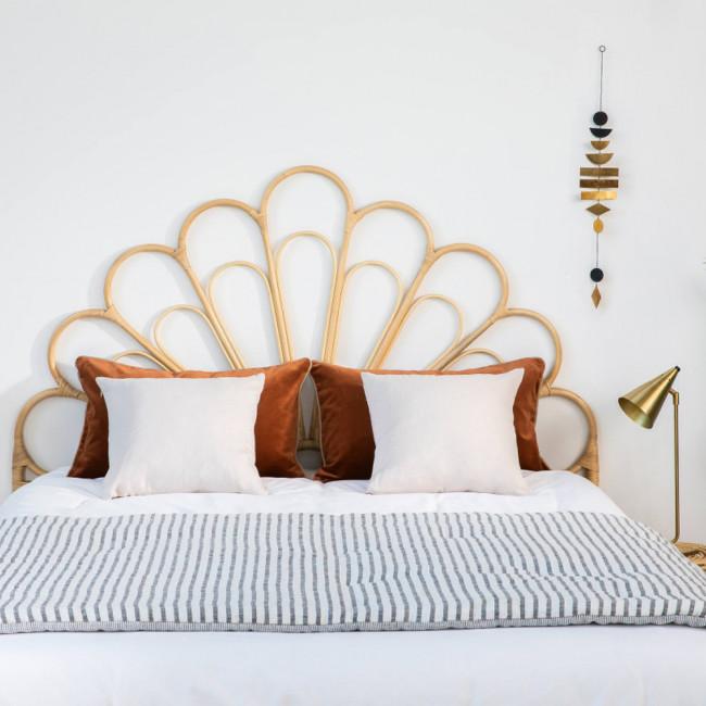 Singaraja - Tête de lit design en rotin 148cm