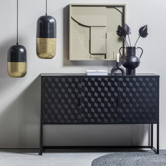 Milo - Meuble TV 3 portes en bois et métal