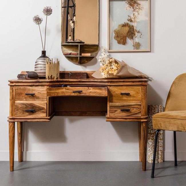 Boudoir - Coiffeuse 5 tiroirs en bois