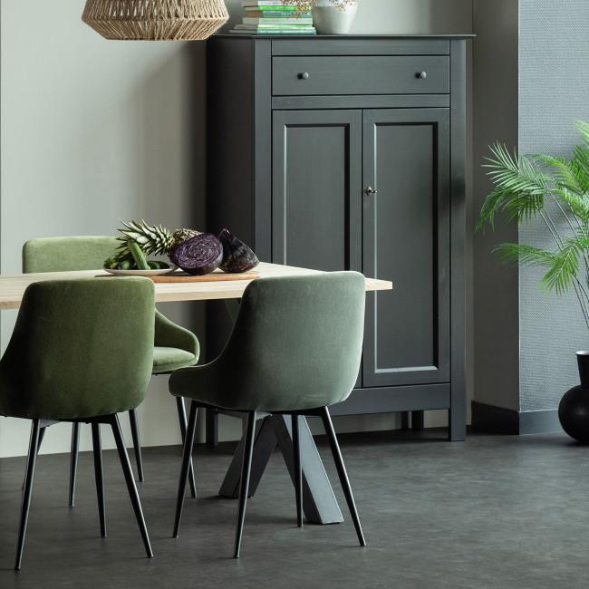 Tablo  - Table à manger en bois piétement en X 160x90 cm