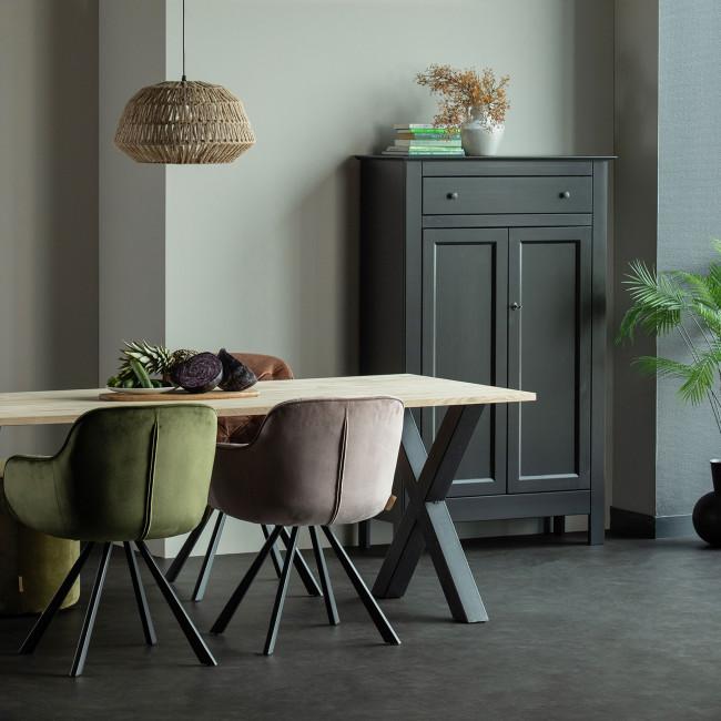Tablo  - Table à manger en bois piétement en X 200x90 cm