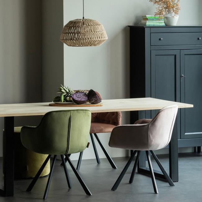 Tablo  - Table à manger en bois piétement en U 200x90 cm