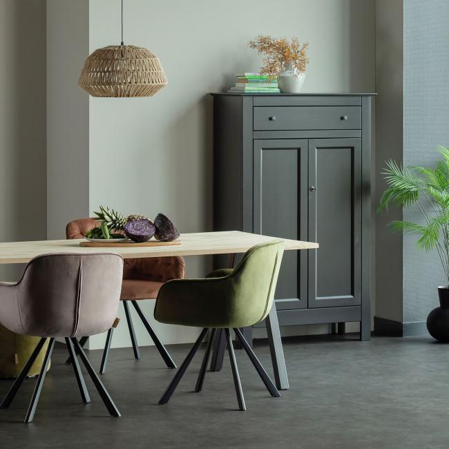 Tablo  - Table à manger en bois piétement en A 220x90 cm