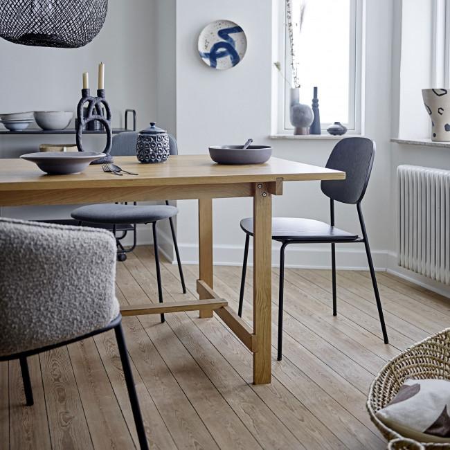 Monza - 2 chaises en bois et métal