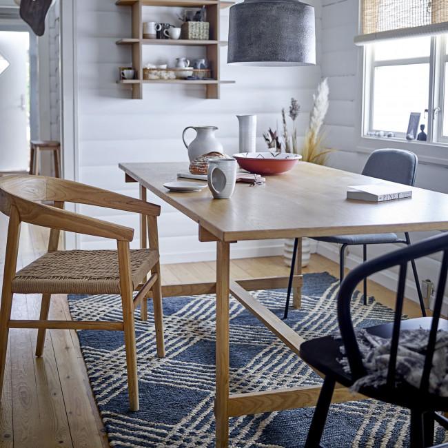 Corte - 2 chaises en tissu et métal