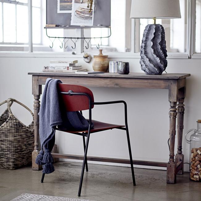 Piter - 2 chaises avec accoudoirs en bois et métal