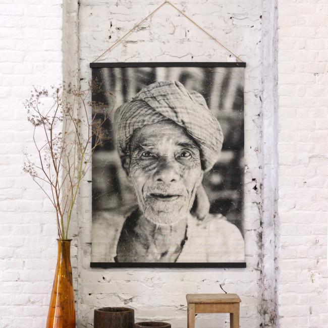 Jamaa - Déco murale en papier portrait