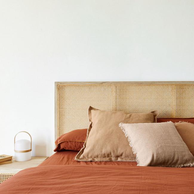 Rexit - Tête de lit en bois et rotin 163x65cm
