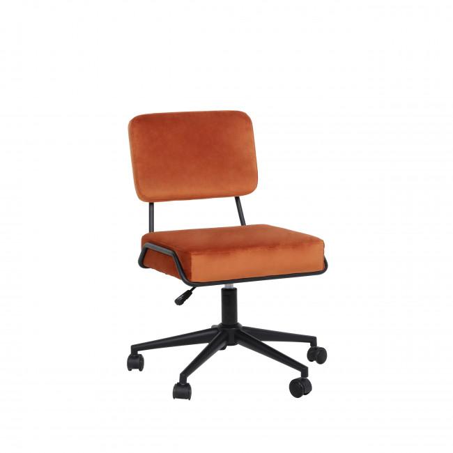 Smarden - Chaise de bureau à roulettes en velours