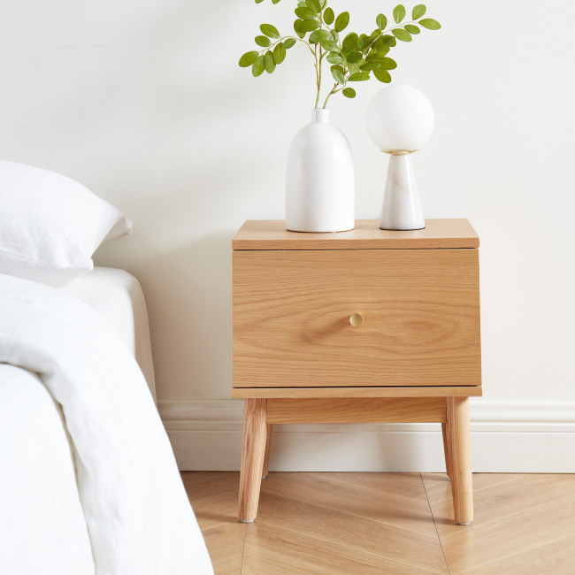 Grude - Table de chevet 1 tiroir en bois