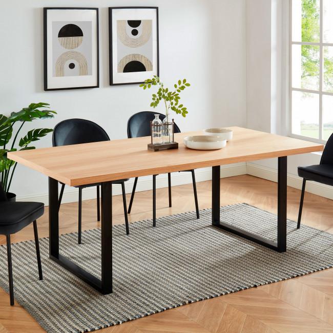 Longwick - Table à manger en bois et métal 100x200cm