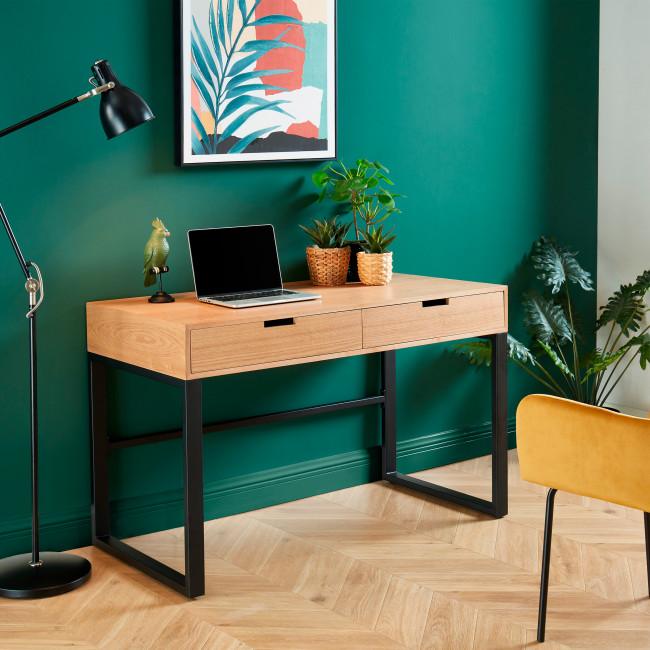 Tuzi - Bureau en bois et métal L120cm