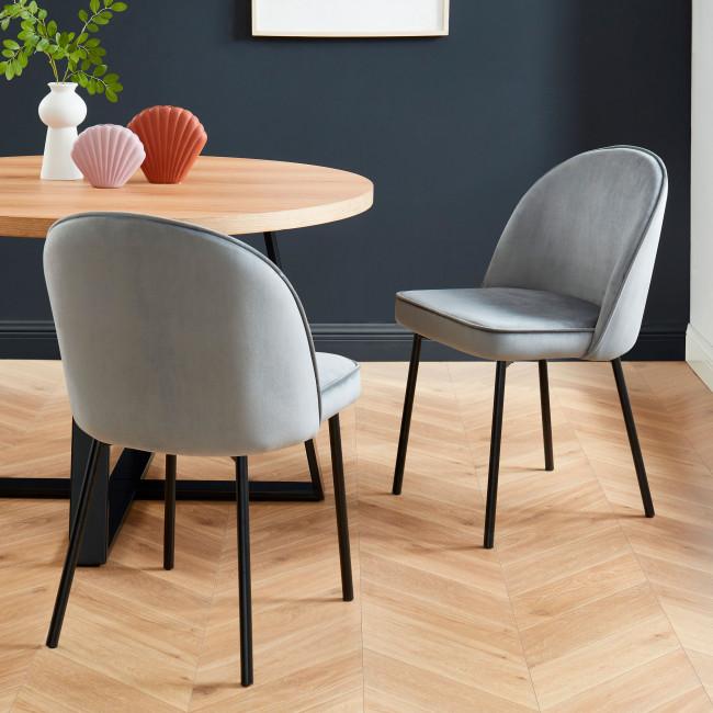 Prestwood - 2 chaises en métal et velours