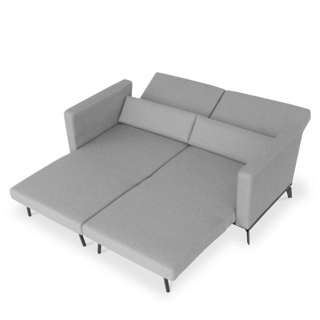 Canapé convertible design Harvey gris vue allongee