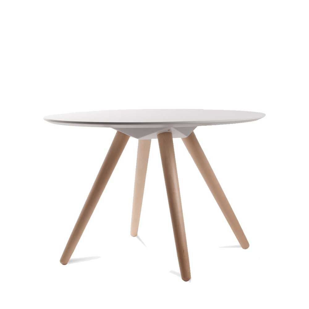 Table basse en bois bee by for Table blanche et bois