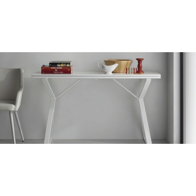 Table console extensible design 45-90 Atik blanche ambiance