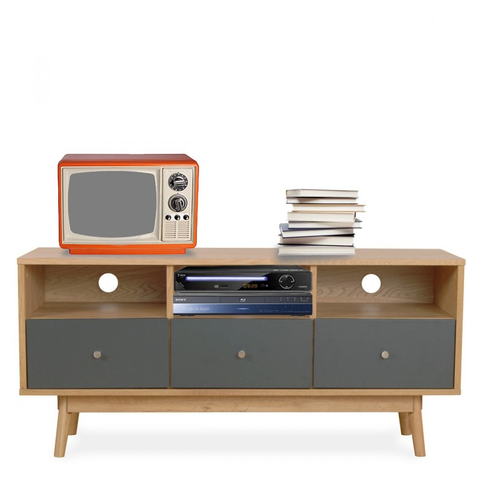 Meuble tv scandinave skoll by drawer for Meuble tv but