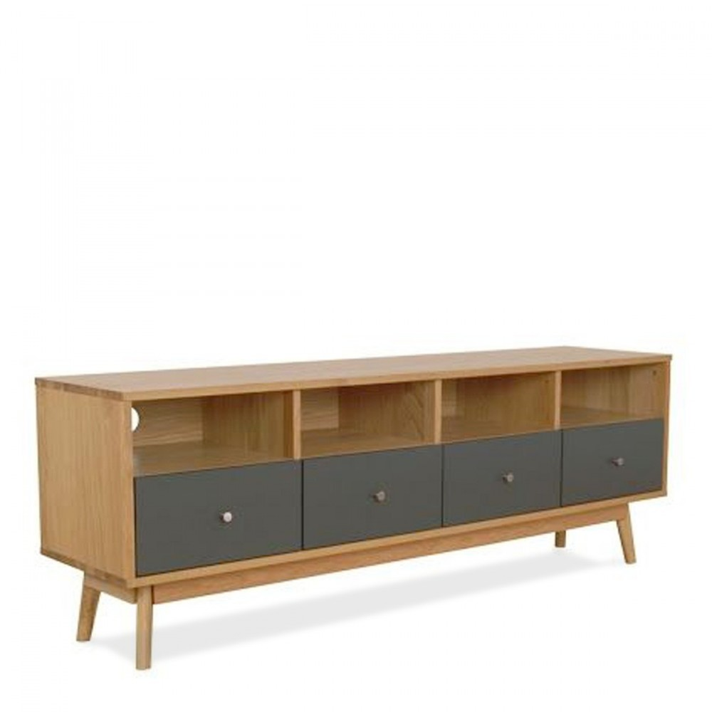 meuble tv 4 tiroirs skoll style scandinave by drawer. Black Bedroom Furniture Sets. Home Design Ideas