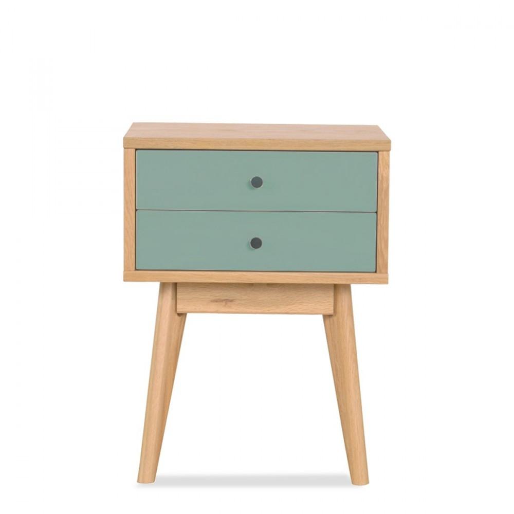 Table de chevet scandinave skoll 2 tiroirs by drawer - Meuble de rangement a tiroir ...