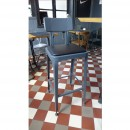 tabouret de bar industriel vintage Benvenuto gris anthracite