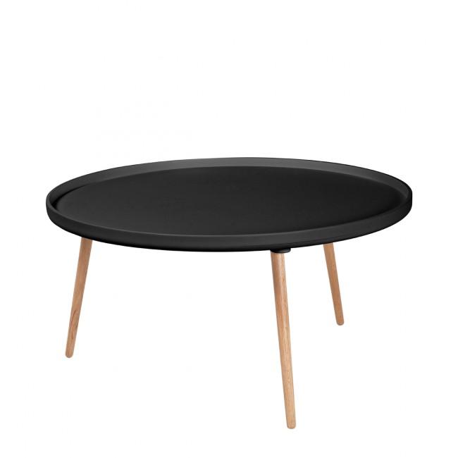 Table basse ronde Kompass Ø90 noire