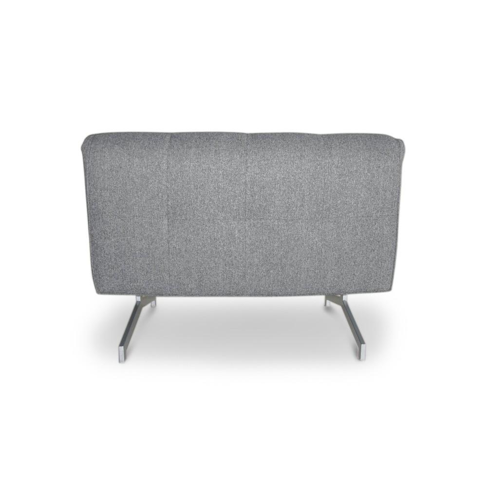 Canap 2p convertible design bz tissu rouge ou gris marco Canape rouge et gris