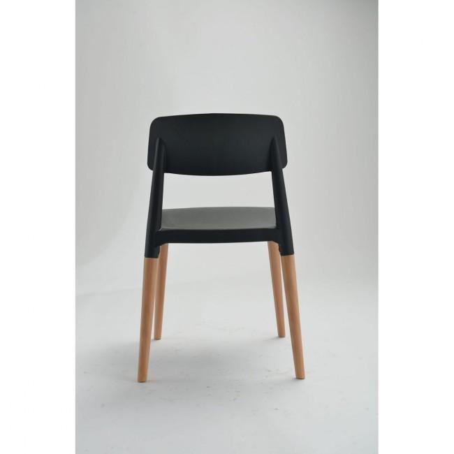 Lot de 2 chaises design Glamwood noires de dos
