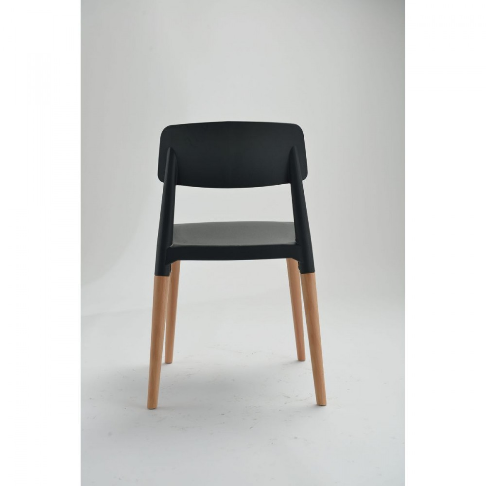 Chaise Design Scandinave Blanche Ou Noire Glamwood