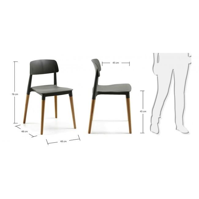 Lot de 2 chaises design Glamwood noires