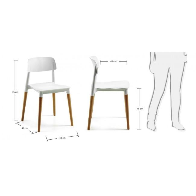 Lot de 2 chaises design Glamwood blanches