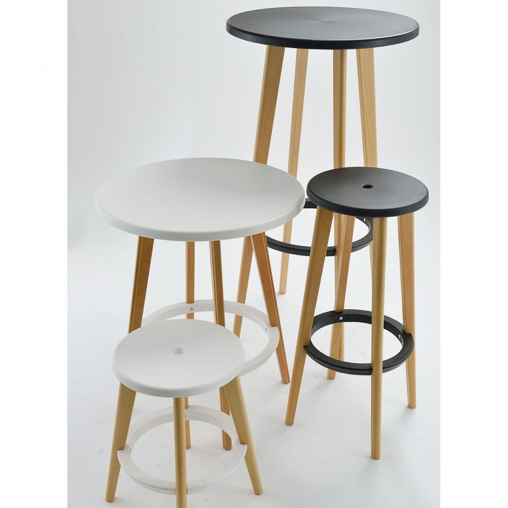Table De Bar Ronde Design Blanche Harry 39 S By Drawer