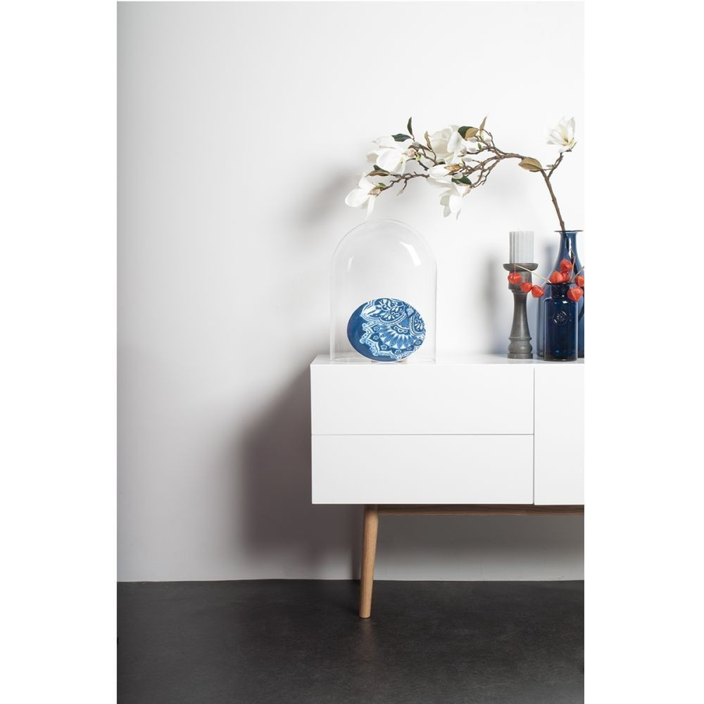 buffet de rangement scandinve laqu blanc et pieds en bois high wood zuiver. Black Bedroom Furniture Sets. Home Design Ideas