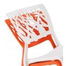 Lot de 2 chaises Candice blanches ou orange
