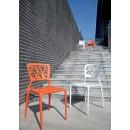 Lot de 2 chaises Candice blanches ou orange ambiance