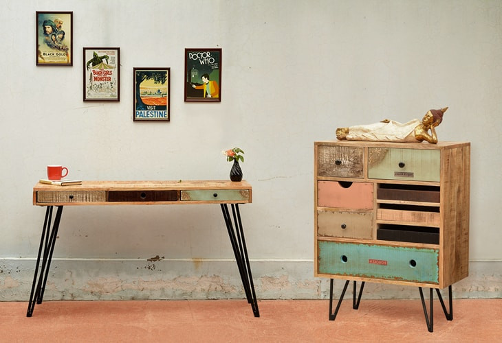 Fusion collection mobilier indien