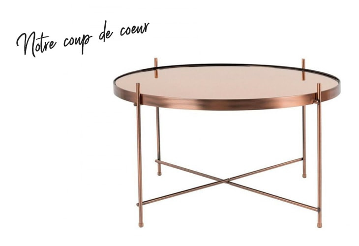 table basse cupid cuivre zuiver
